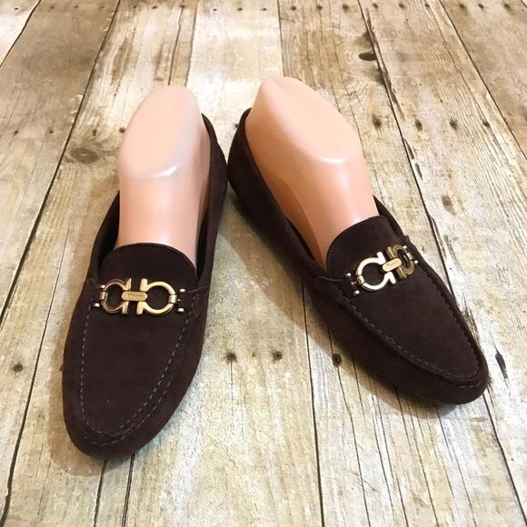 Salvatore Salvatore Salvatore Ferragamo Schuhes   Braun Gold Loafers Größe 85 2a   Poshmark 54a241